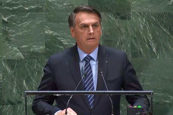 Em discurso, Bolsonaro nega devastação da Amazônia e critica Cuba e Venezuela