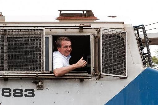 Bolsonaro participa de inauguração de trecho da Ferrovia Norte-Sul