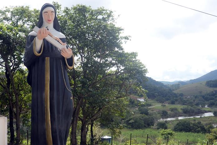 Estátua de Santa Rita na comunidade de Pacas está em fase de finalização