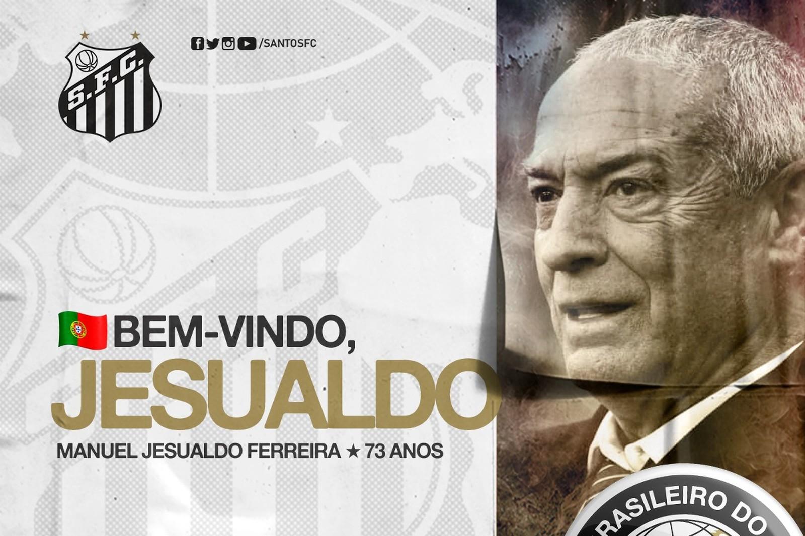 Português Jesualdo Ferreira é o novo técnico do Santos